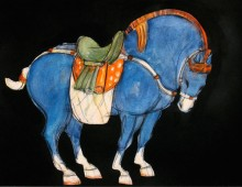 Tang-Series-blue-I-horse-scroll-OPT